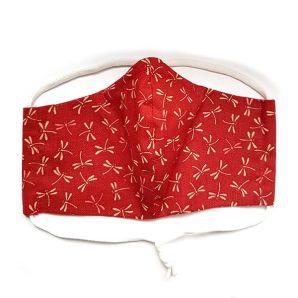 Mund-Nasen-Maske - Suzume Dragonfly - Rot
