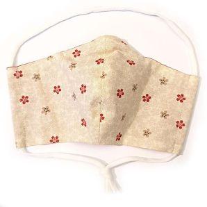 Mund-Nasen-Maske - Wakayama Flower - Creme