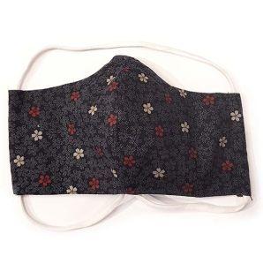 Mund-Nasen-Maske - Wakayama Flower - Dunkelblau