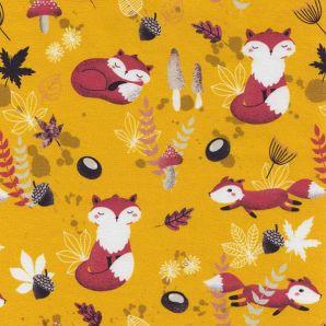 Reststück Jersey My little Foxy - Gelb
