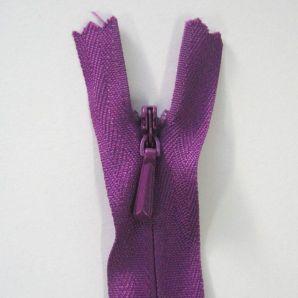 Reißverschluss nahtverdeckt 20cm - Violett