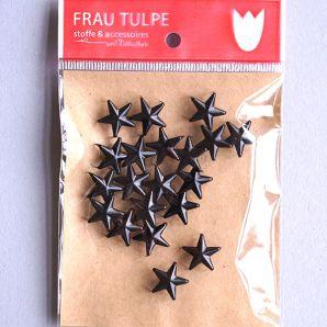 Zierniete Stern - Schwarz