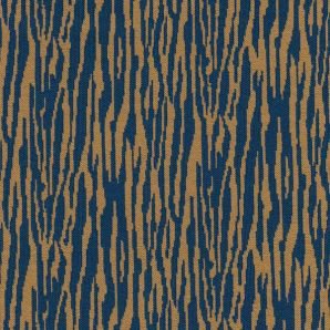 Organic Bark Jacquard Jersey - Dry Mustard/Ocean