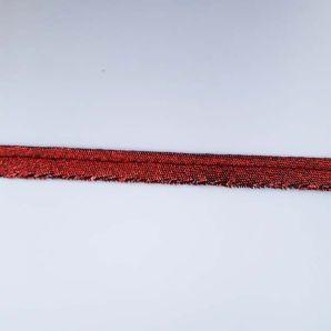 Metallicpaspel 10mm - Rot