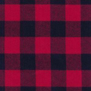 Plaid Highland Flannel - Rot/Schwarz