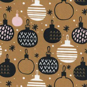 Popeline Merry X-Mas Ornaments - Ocker