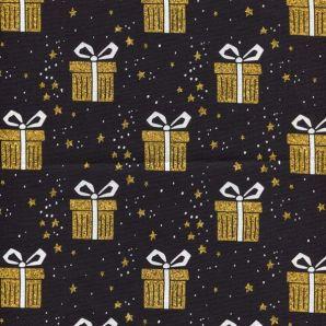 Popeline Weihnachtsgeschenke - Schwarz