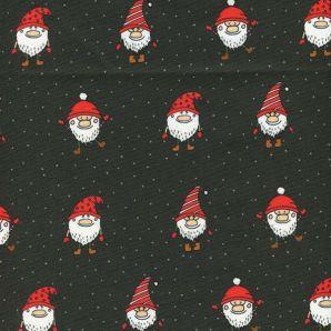 Popeline Weihnachtswichtelchen - Dunkelgrün