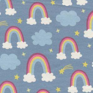 Reststück Jersey Prinzessin Phantasie Regenbogen
