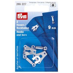 Hosen-/Rockhaken 9mm - Silber