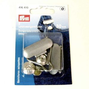 Latzhosengarnitur 30mm - Silber Matt