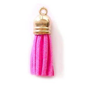 Quaste Wildleder-Immitat - Pink
