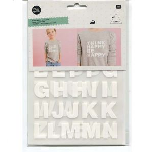 Bügelmotiv Alphabet - Weiß