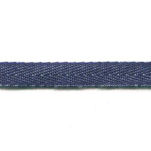 Köperband 10mm - Dunkelblau/Weiss
