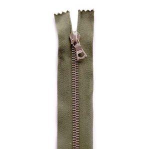 Riri Metallreißverschluss teilbar 35cm - Olivgrün