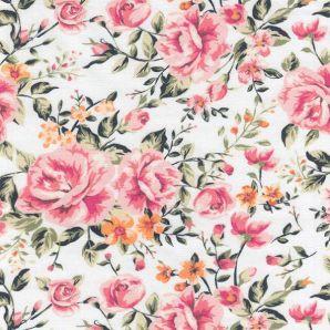 Jersey Rosegarden - Weiß