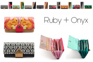 Große Geldbörse Ruby/Onyx - eBook von Hansedelli