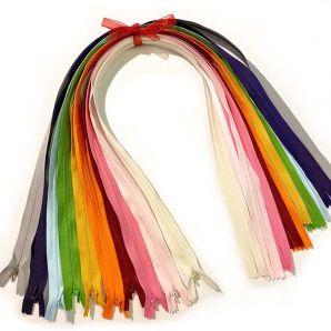 Reißverschluss Set nahtverdeckt 62cm - Rainbow