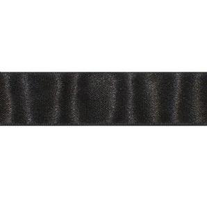 Satinband 25mm - Schwarz