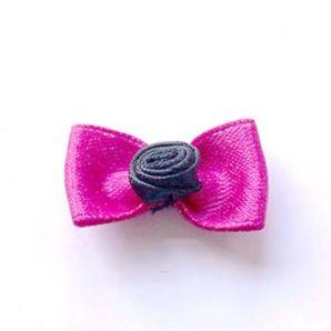 Schleife mit Rose 30mm - pink
