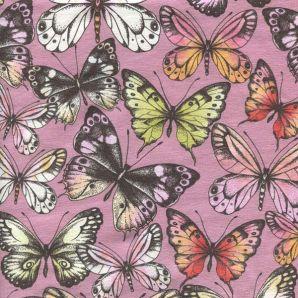 Jersey Schmetterlinge - Altrosa