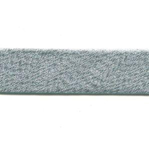 Schrägband 20mm Metallic - Silber