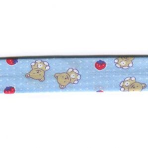 Schrägband 20mm Teddy- Blau 2. Wahl
