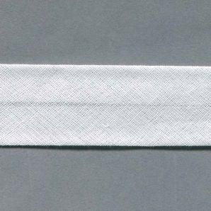Schrägband 30mm uni - 100 - Weiss