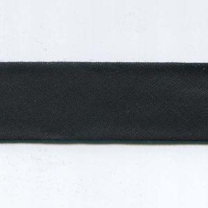 Schrägband 30mm uni - 999 - Schwarz