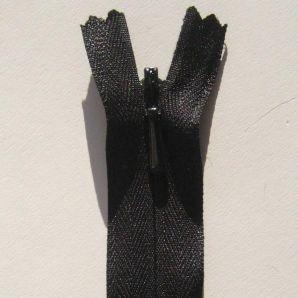 Reißverschluss nahtverdeckt 20cm - Schwarz