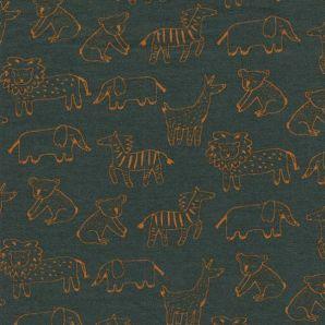 Bio Soft Sweat happy Animals - Dunkelgrün