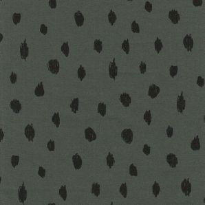 Bio Soft Sweat Painted Dots - Grüngrau