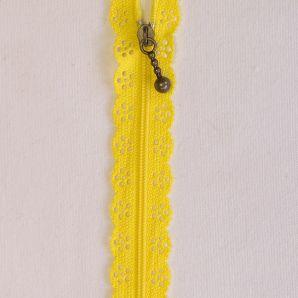 Reißverschluss mit Zierspitze 20cm - Gelb