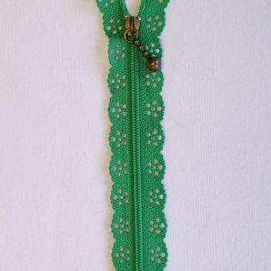 Reißverschluss mit Zierspitze 20cm - grün