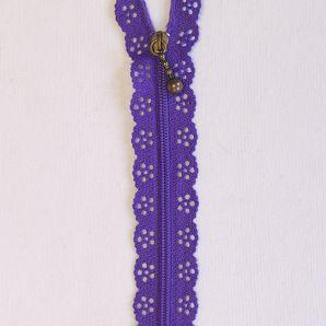 Reißverschluss mit Zierspitze 20cm - Violett