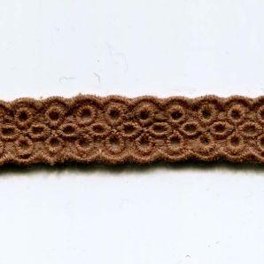 Spitze Blümchen 11mm - Braun