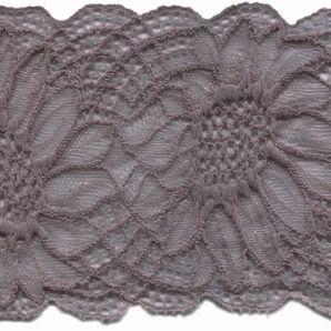 Spitze elastisch - Grau