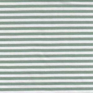 Reststück Jersey Spring Stripes - Grün