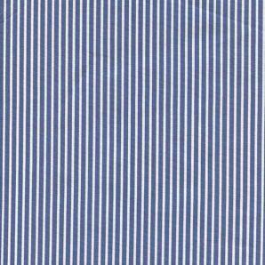 Popeline Stripe - Mittelblau