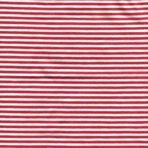 Reststück Jersey Streifenliebe - Rot/Weiß