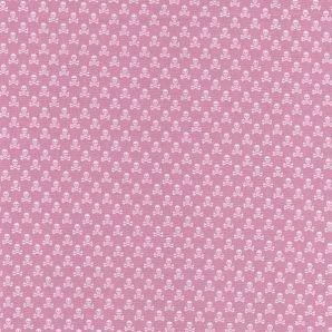 Popeline tiny Skulls - Rosa