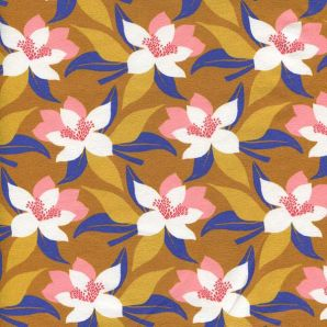 Jersey Tropical Flowers - Ocker