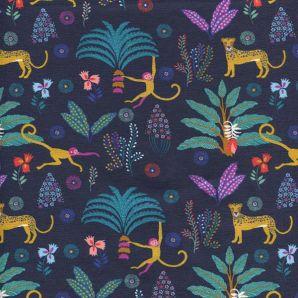 Jersey Tropical Forest Animals - Marineblau