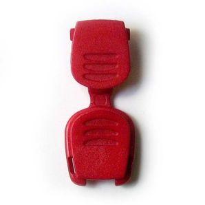 Kordelende Plastikclip - Rot