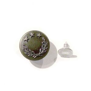 Jeansknopf 18mm - Silber Antique