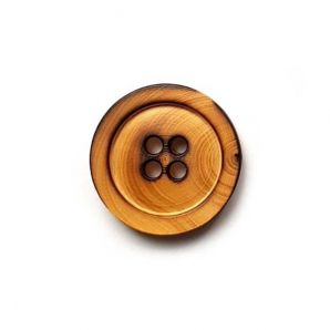 Holzknopf 4-Loch abgeflammt 27mm
