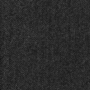 Englische Wolle Fischgrät - Anthrazit