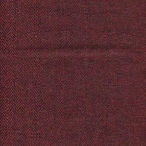 Englische Wolle Fischgrät - Bordeaux