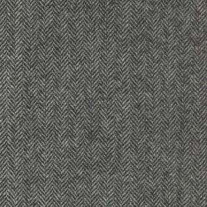 Englische Wolle Fischgrät - Grau