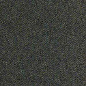 Englische Wolle Fischgrät - Grün